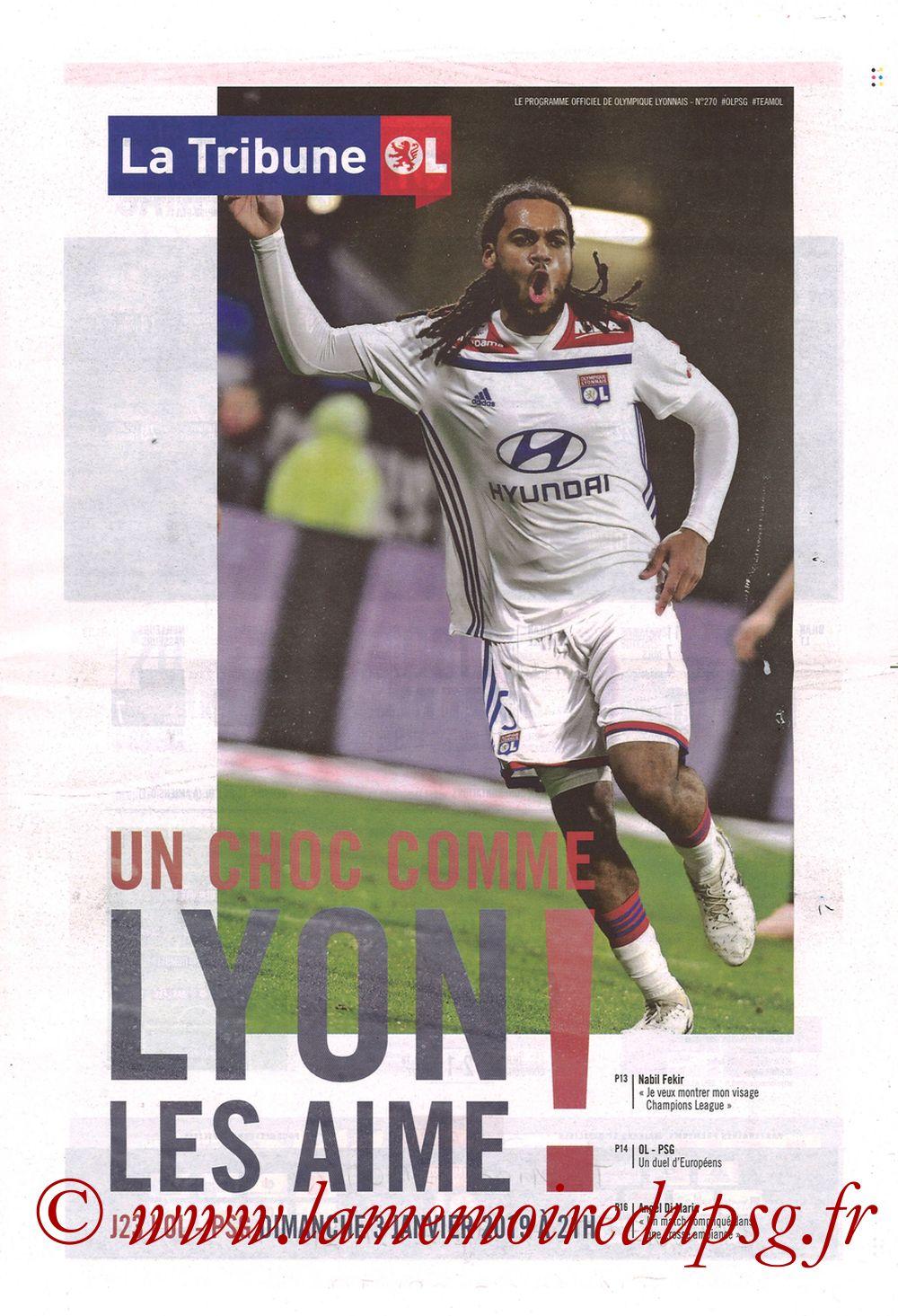 2019-02-03  Lyon-PSG (23ème L1, La Tribune OL N°270)