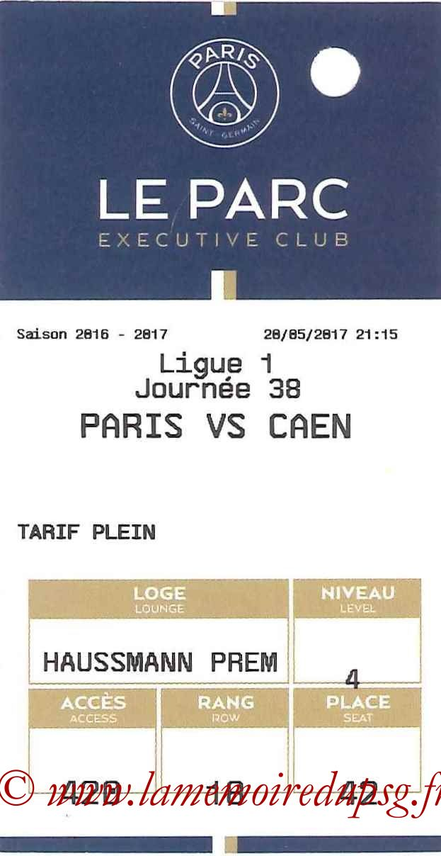 2017-05-20  PSG-Caen (38ème L1, E-ticket Executive Club)