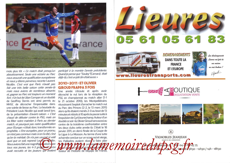 2019-12-07  Montpellier-PSG (17ème L1, L'Echo de la Mosson N°9) - Pages 18 et 19