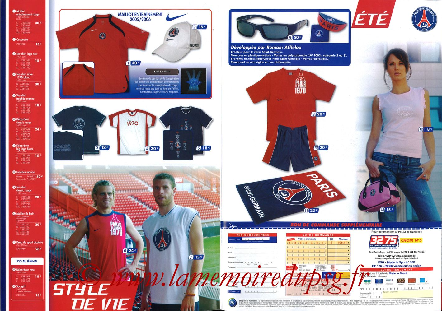 Catalogue PSG - 2005-06b - Pages 04 et 05