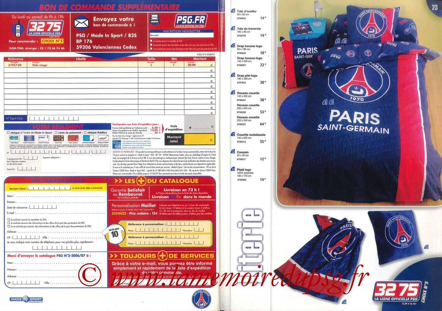 Catalogue PSG - 2006-07 - Pages 22 et 23