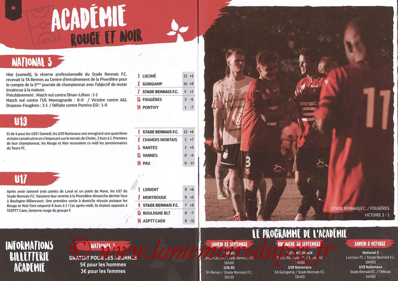 2018-09-23  Rennes-PSG (6ème L1, Programme officiel) - Pages 12 et 13