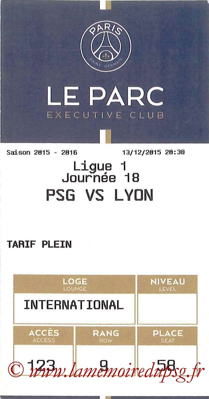 2015-12-13  PSG-Lyon (18ème L1, E-ticket Executive club)