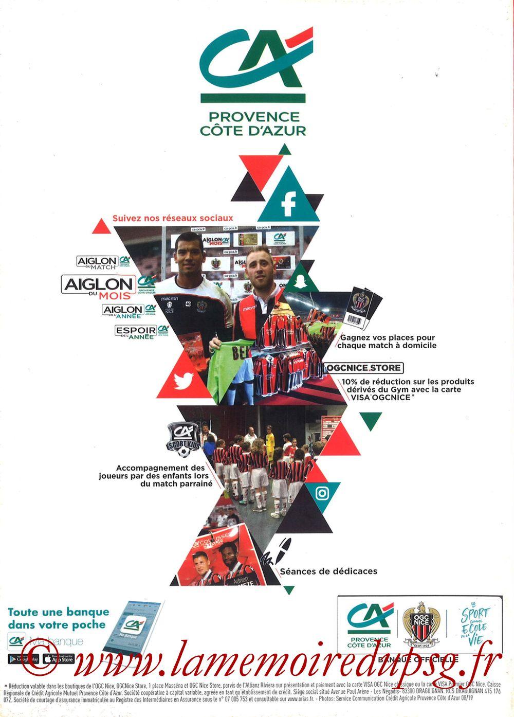 2019-10-18  Nice-PSG (10ème L1, OGCNice Mag N° 333) - Page 28