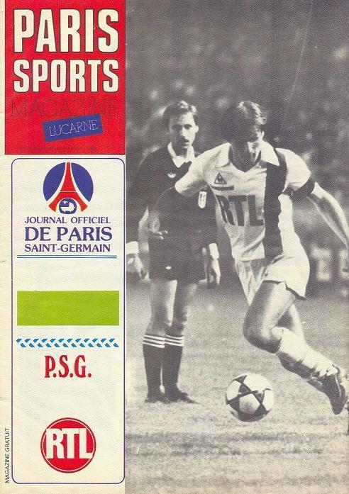 1982-10-12  PSG-Sochaux (10ème D1, Paris Sports Magazine sans N° )