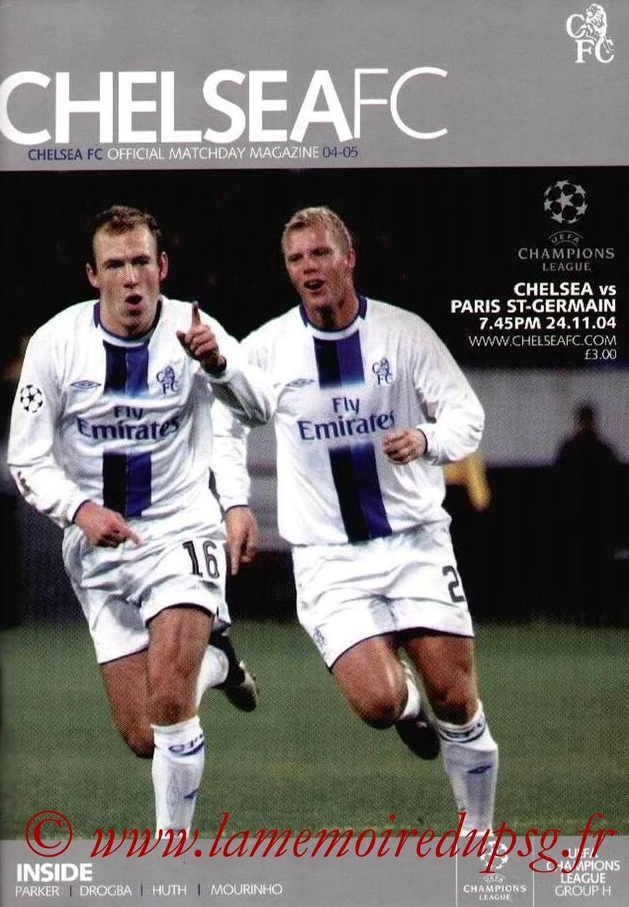 2004-11-24  Chelsea-PSG (5ème Poule C1, Officiel)