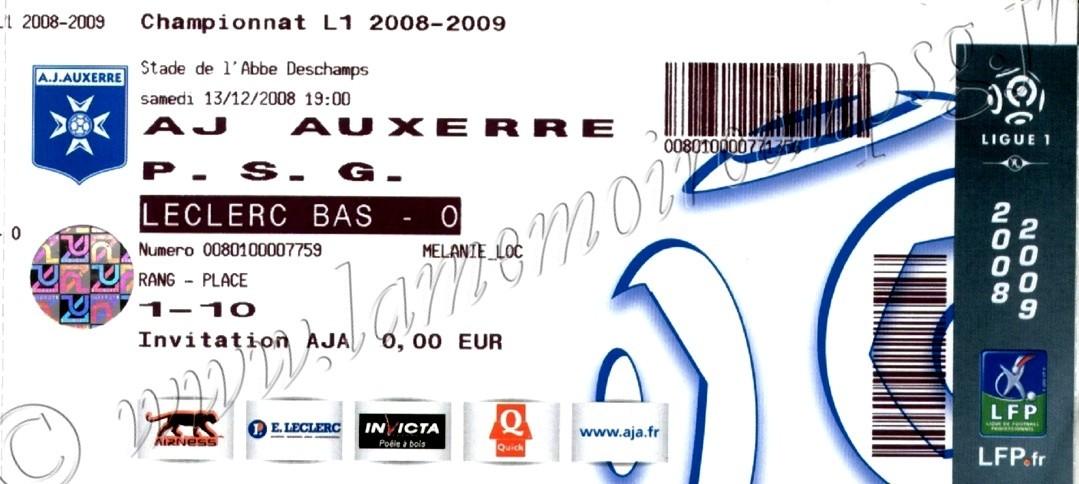 2008-12-13  Auxerre-PSG (18ème L1)