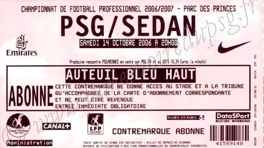 2006-10-14  PSG-Sedan (9ème L1)