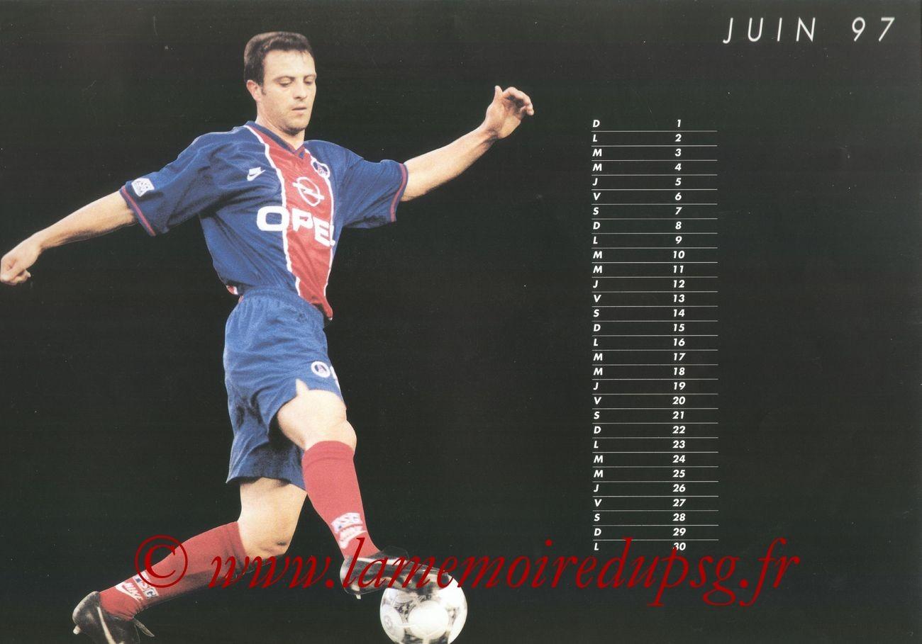 Calendrier PSG 1996-97 - Page 11 - Alain ROCHE