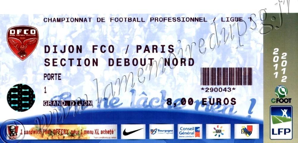 2012-03-11  Dijon-PSG (27ème L1)