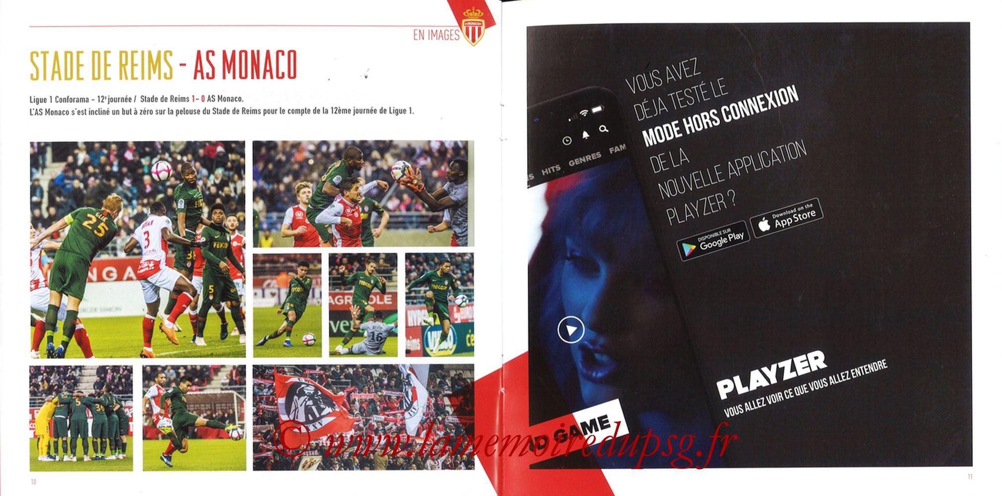 2018-11-11  Monaco-PSG (13ème L1, Programme officiel) - Pages 10 et 11