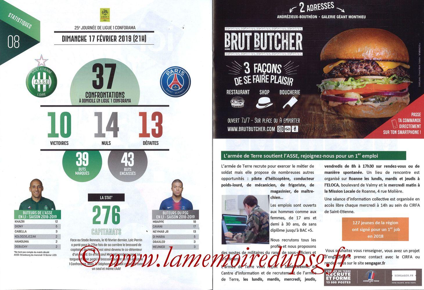 2019-02-17  Saint Etienne-PSG (25ème L1, Maillot Vert N° 13) - Pages 08 et 09