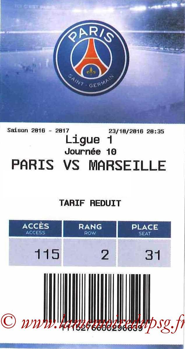 2016-10-23  PSG-Marseille (10ème L1, E-ticket)