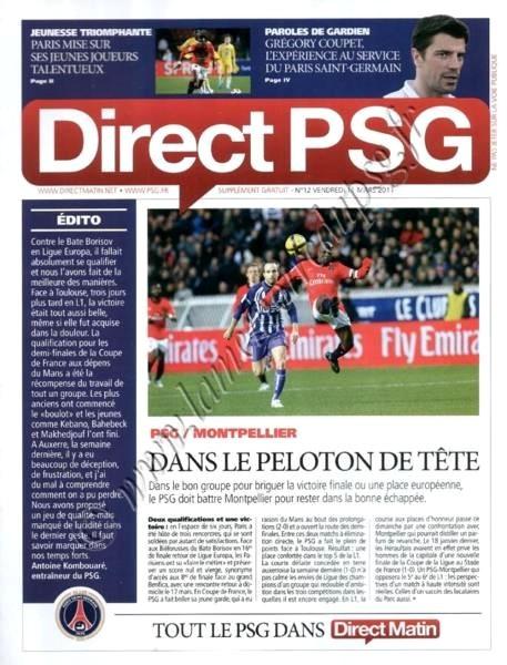 2011-03-13  PSG-Montpellier (27ème L1, Direct PSG N°12)