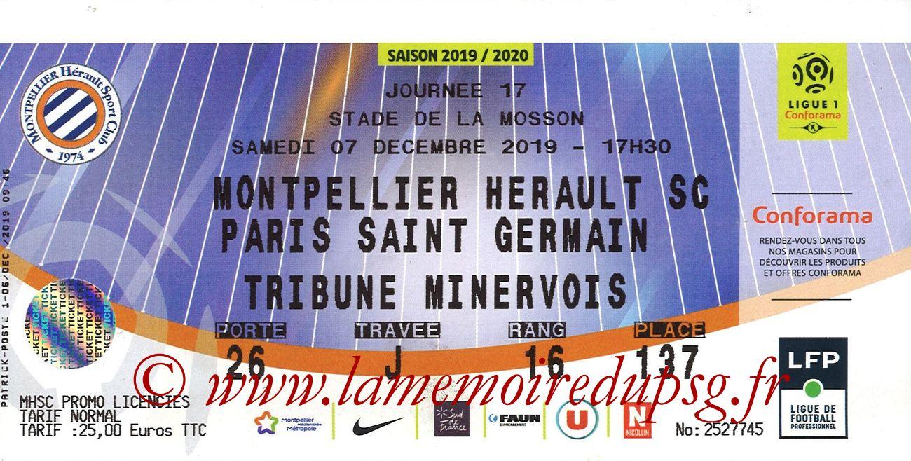 2019-12-07  Montpellier-PSG (17ème L1)