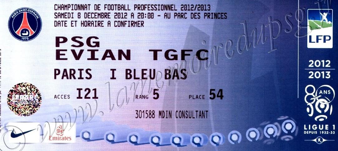 2012-12-08  PSG-Evian (16ème L1)