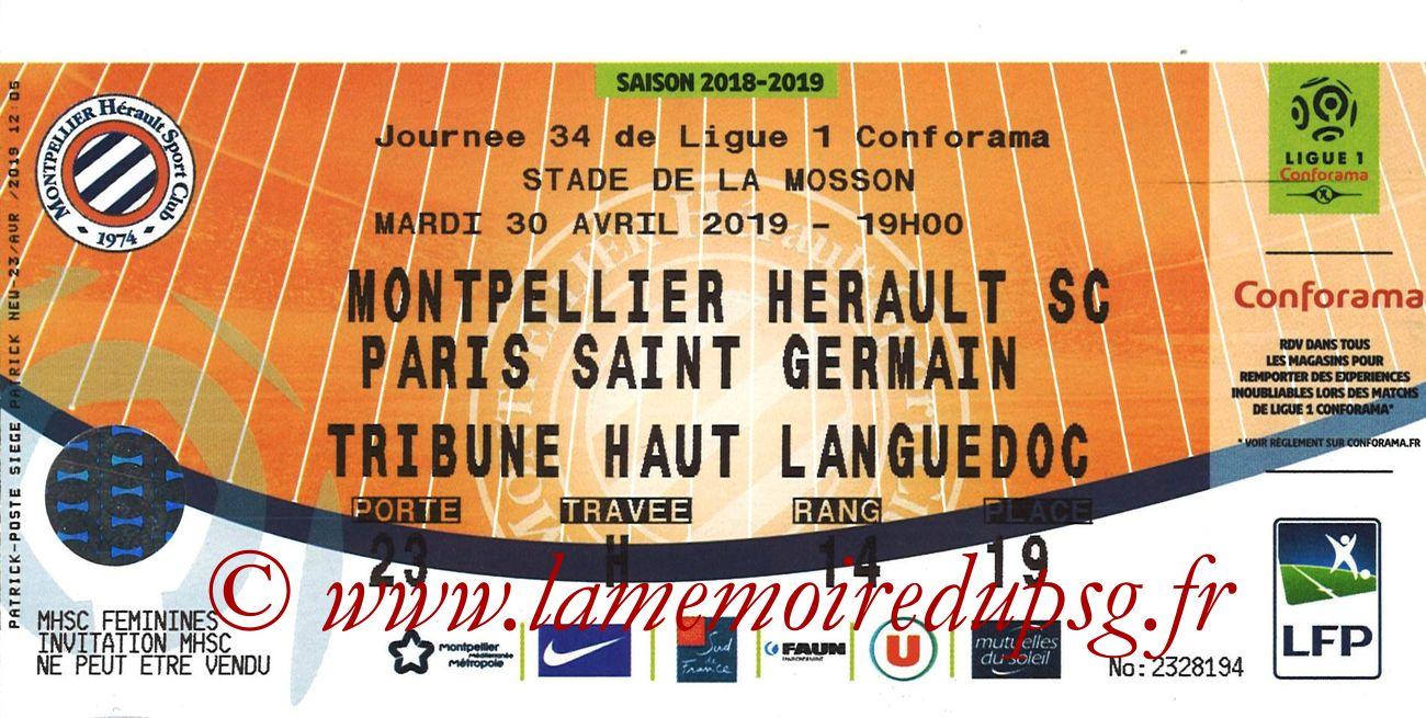 2019-04-30  Montpellier-PSG (34ème L1)