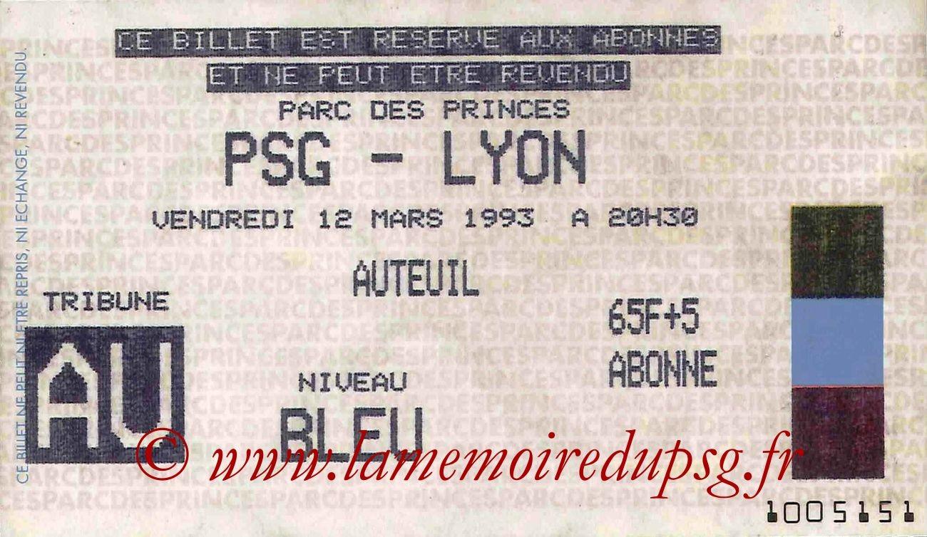 1993-03-12  PSG-Lyon (28ème D1)