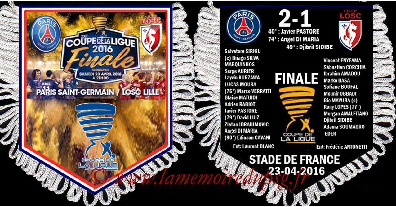 Fanions  PSG-Lille  2015-16