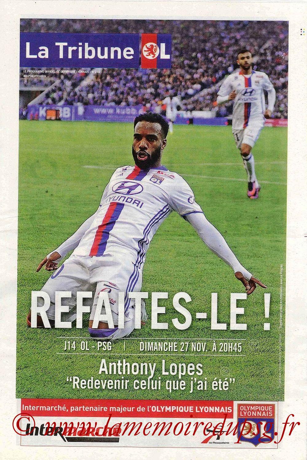 2016-11-27  Lyon-PSG (14ème L1, La Tribune OL)