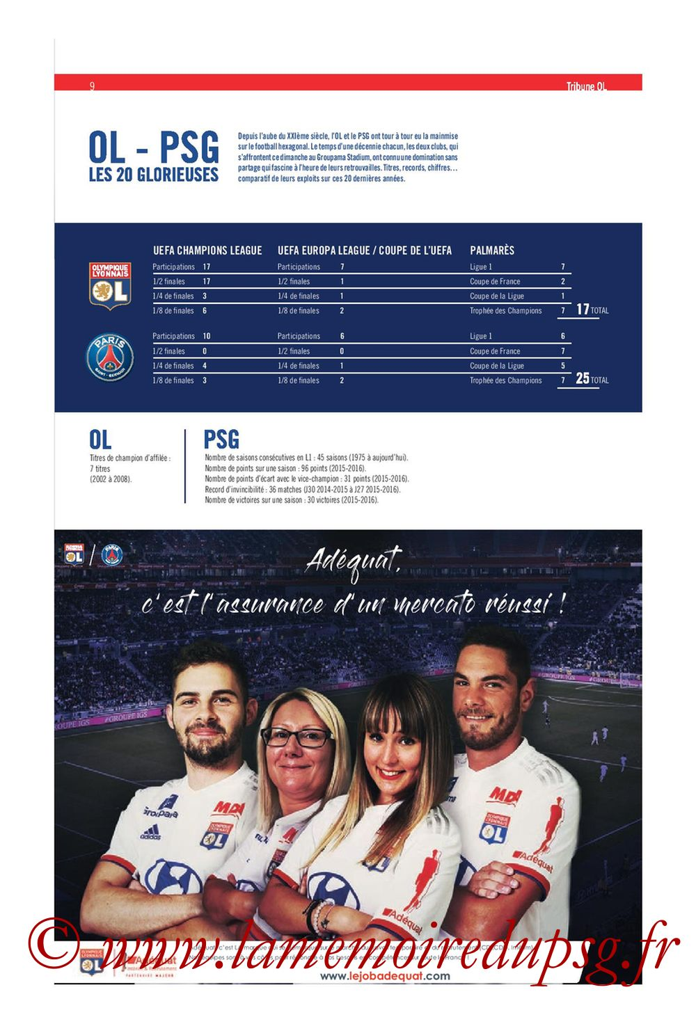 2019-09-22  Lyon-PSG (6ème L1, Tribune OL N°284) - Page 09