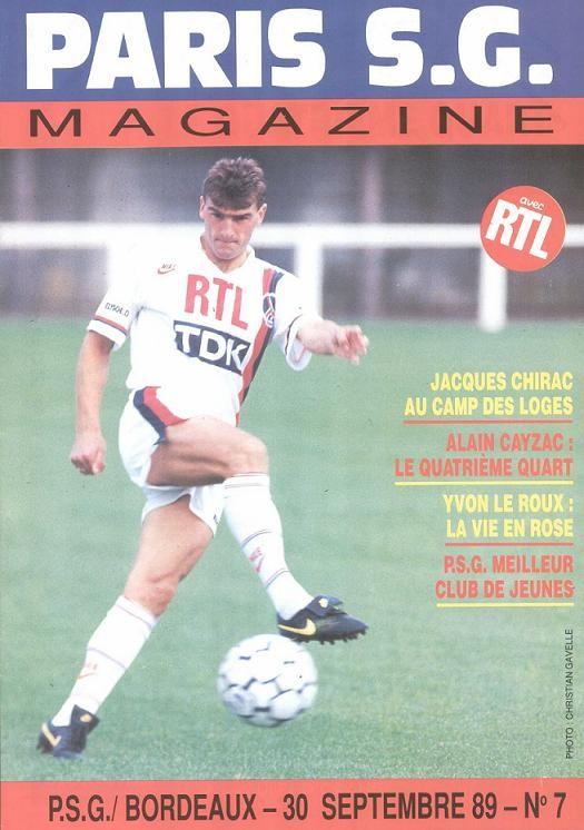 1989-09-30  PSG-Bordeaux (12ème D1, Paris SG Magazine N°7)