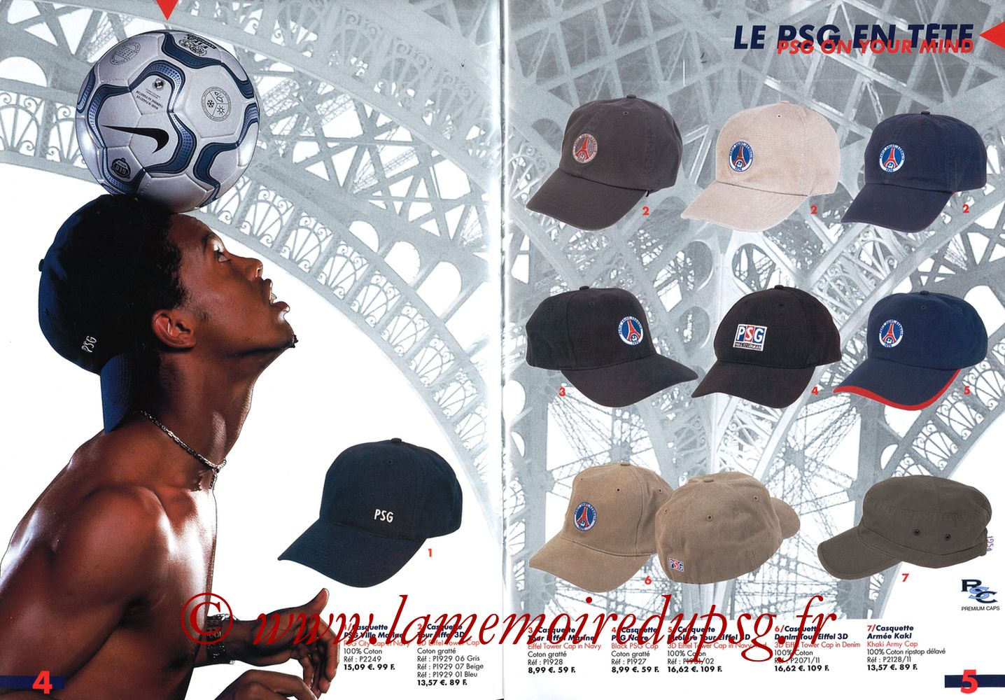 Catalogue PSG - 2001-02 - Pages 04 et 05