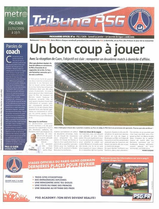 2009-01-31  PSG-Caen (22ème L1, Tribune PSG N°10)