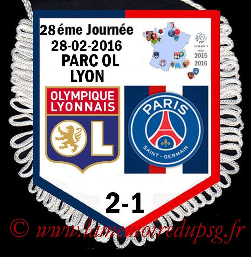 2016-02-28  Lyon-PSG (28ème L1)