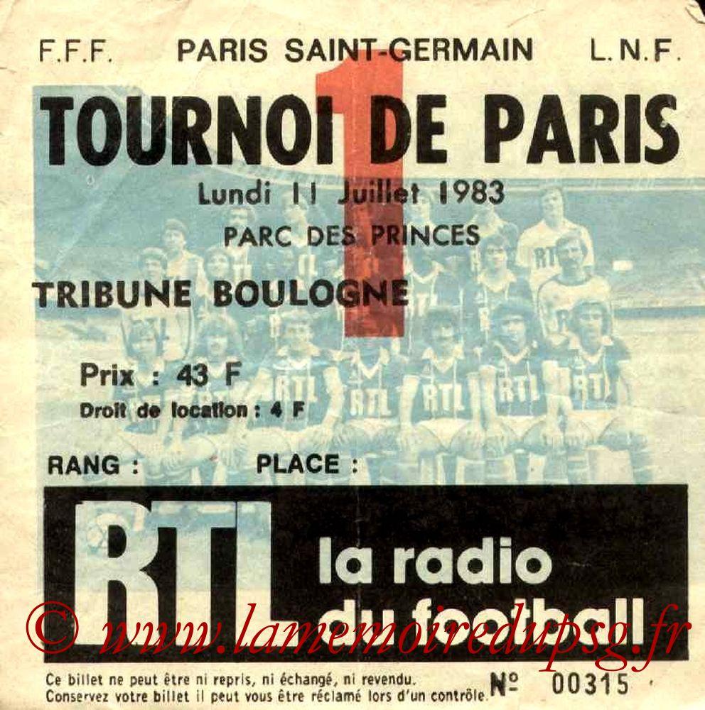 1983-07-11  PSG-Maccabi de Natania (Demi-Finale Tournoi de Paris)