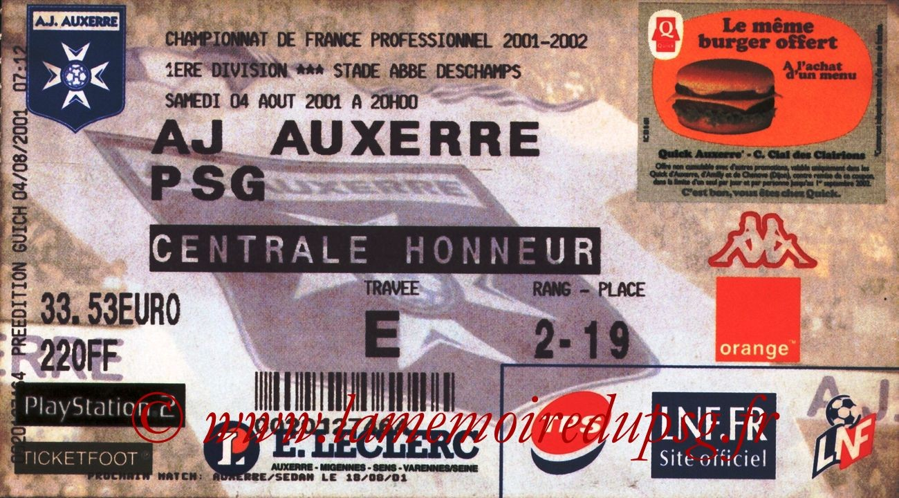 2001-08-04  Auxerre-PSG (2ème D1)