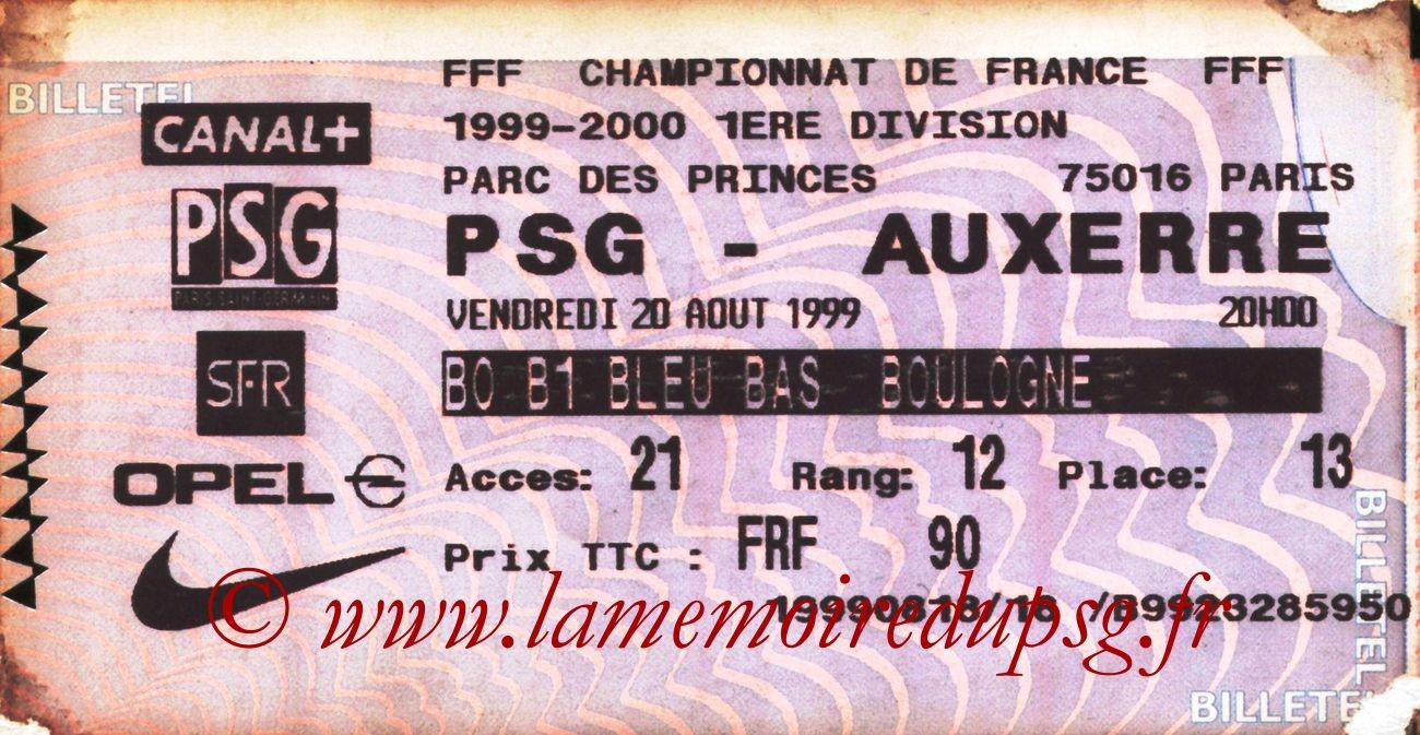 1999-08-20  PSG-Auxerre (4ème D1, Billetel)