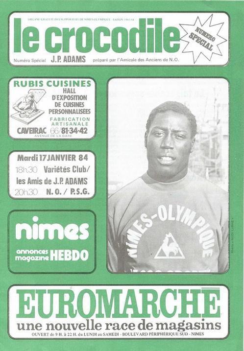 1984-01-17  Nîmes-PSG (Amical pour Jean Pierre Adams à Nîmes, Le crocodile)