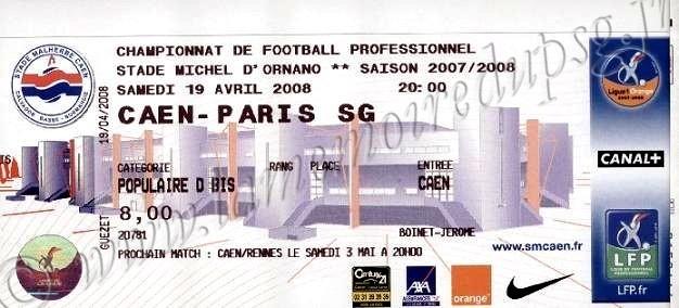 2008-04-19  Caen-PSG (34ème L1)