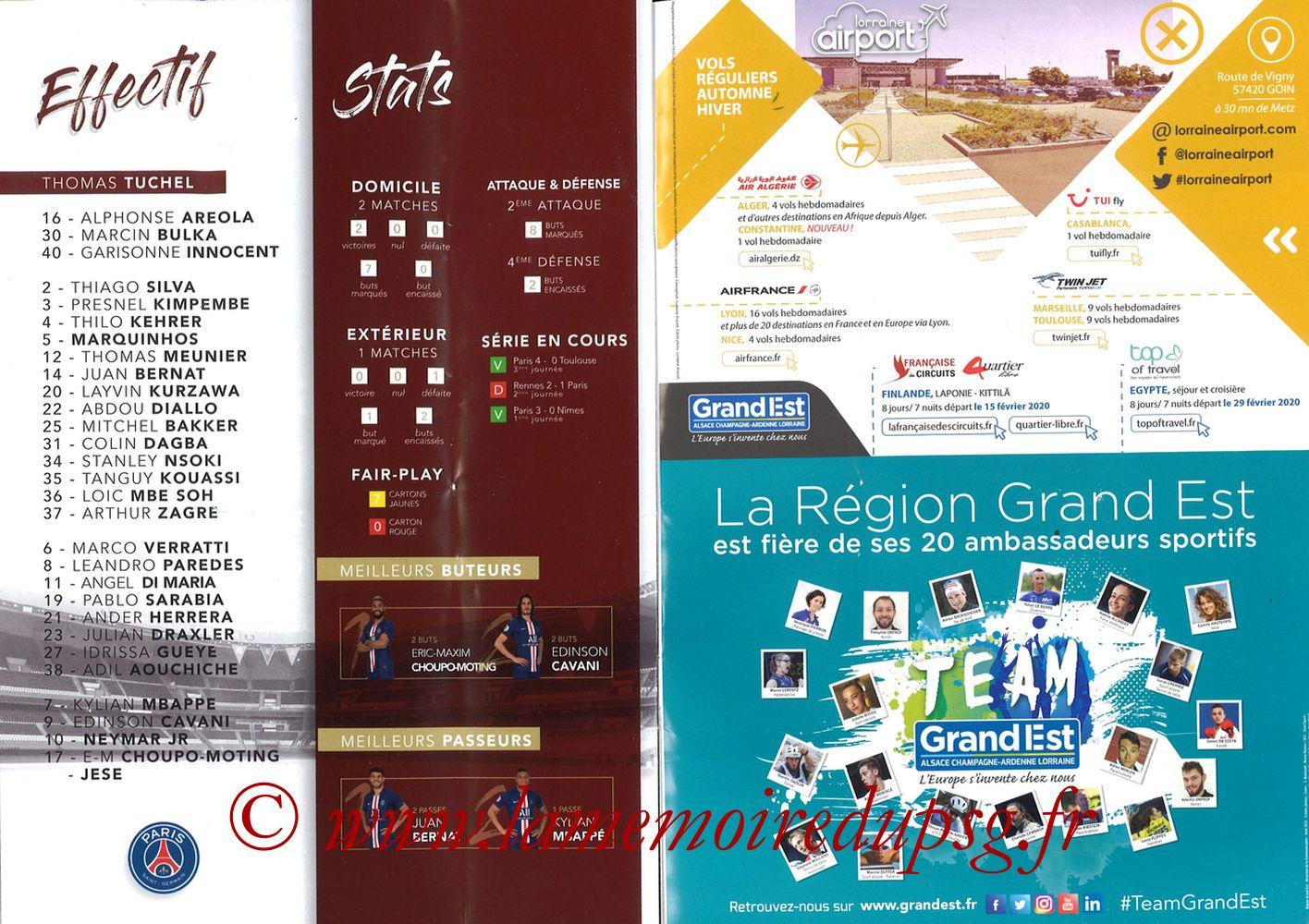 2019-08-30  Metz-PSG (4ème L1, La Gazette de Saint-Symph') - Pages 16 et 17