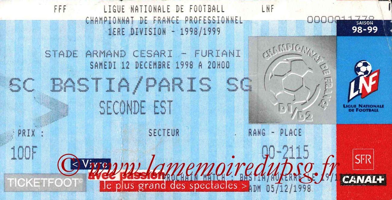 1998-12-12  Bastia-PSG (18ème D1)