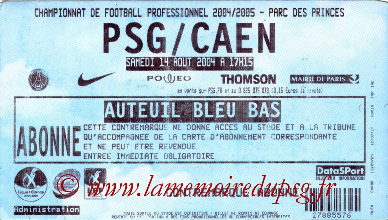 2004-08-14  PSG-Caen (2ème L1)