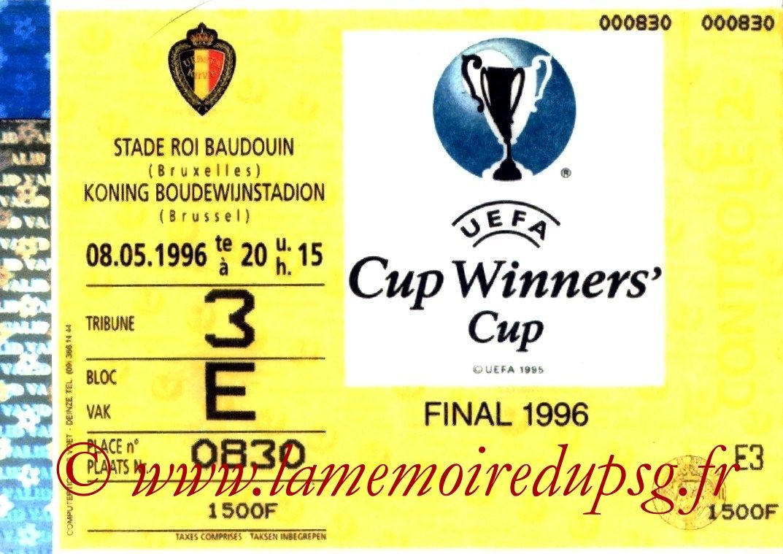 1996-05-08  PSG-Rapid Vienne (Finale C2 à Bruxelles)