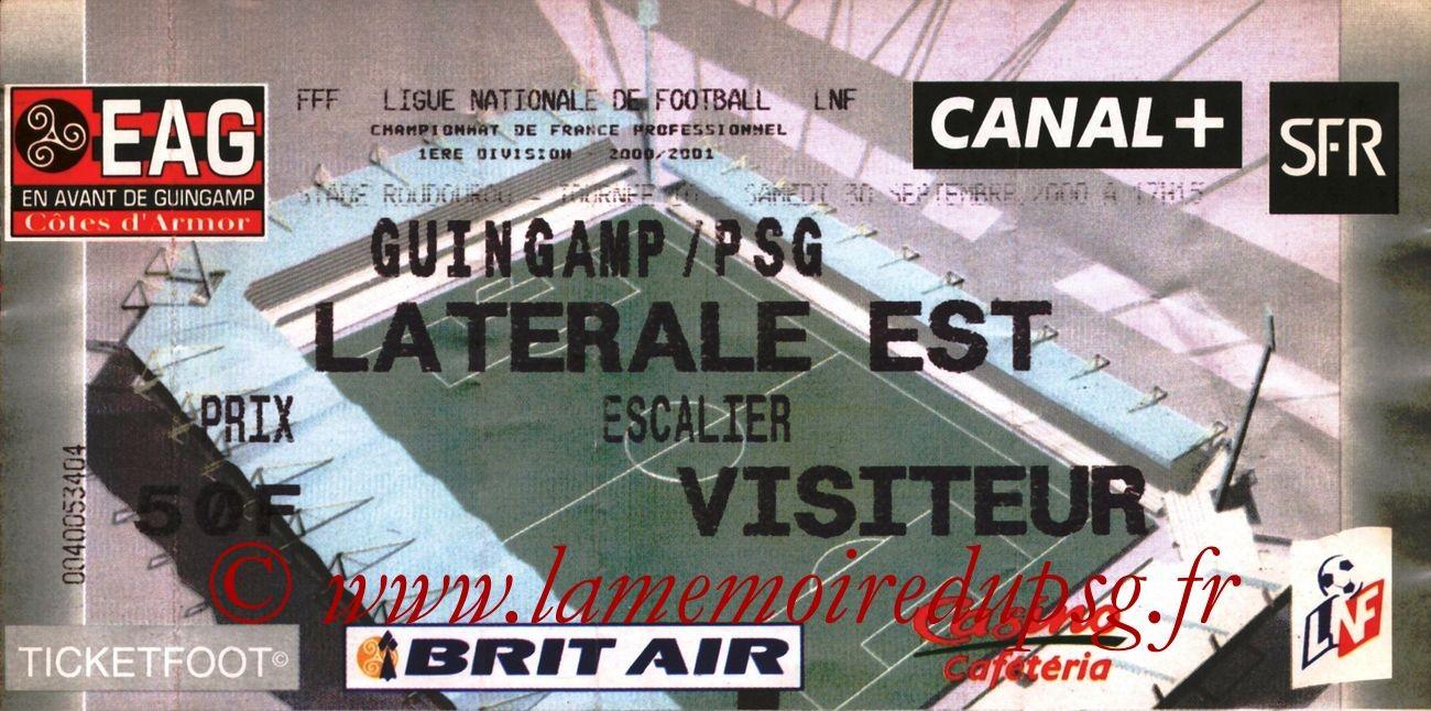 2000-09-30  Guingamp-PSG (10ème D1)