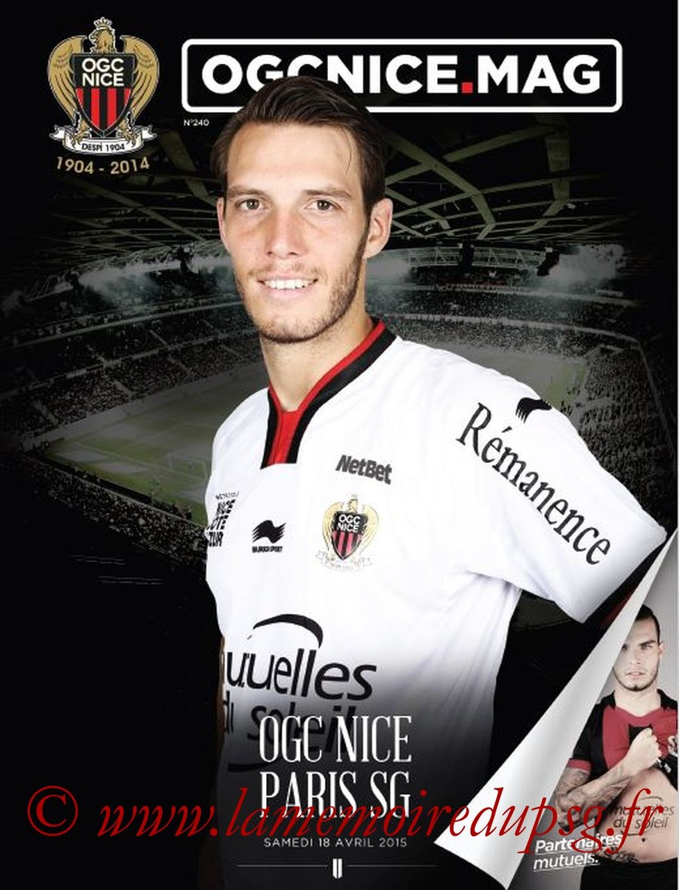 2015-04-18  Nice-PSG (33ème L1, OGCNice mag N° 240)