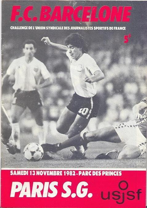 1982-11-13  PSG-FC Barcelone (Amical au Parc des princes)