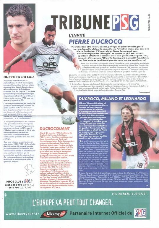 2001-02-20  PSG-Milan AC (4ème Poule C1, 2ème Phase, Tribune PSG N°26bis)