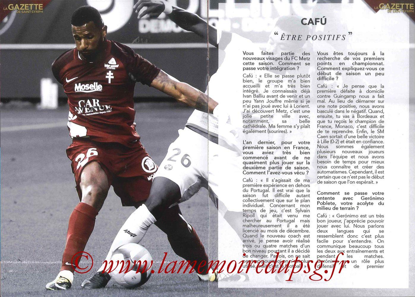 2017-09-08  Metz-PSG ((5ème L1, La Gazette de Saint-Symph) - Pages 06 et 07