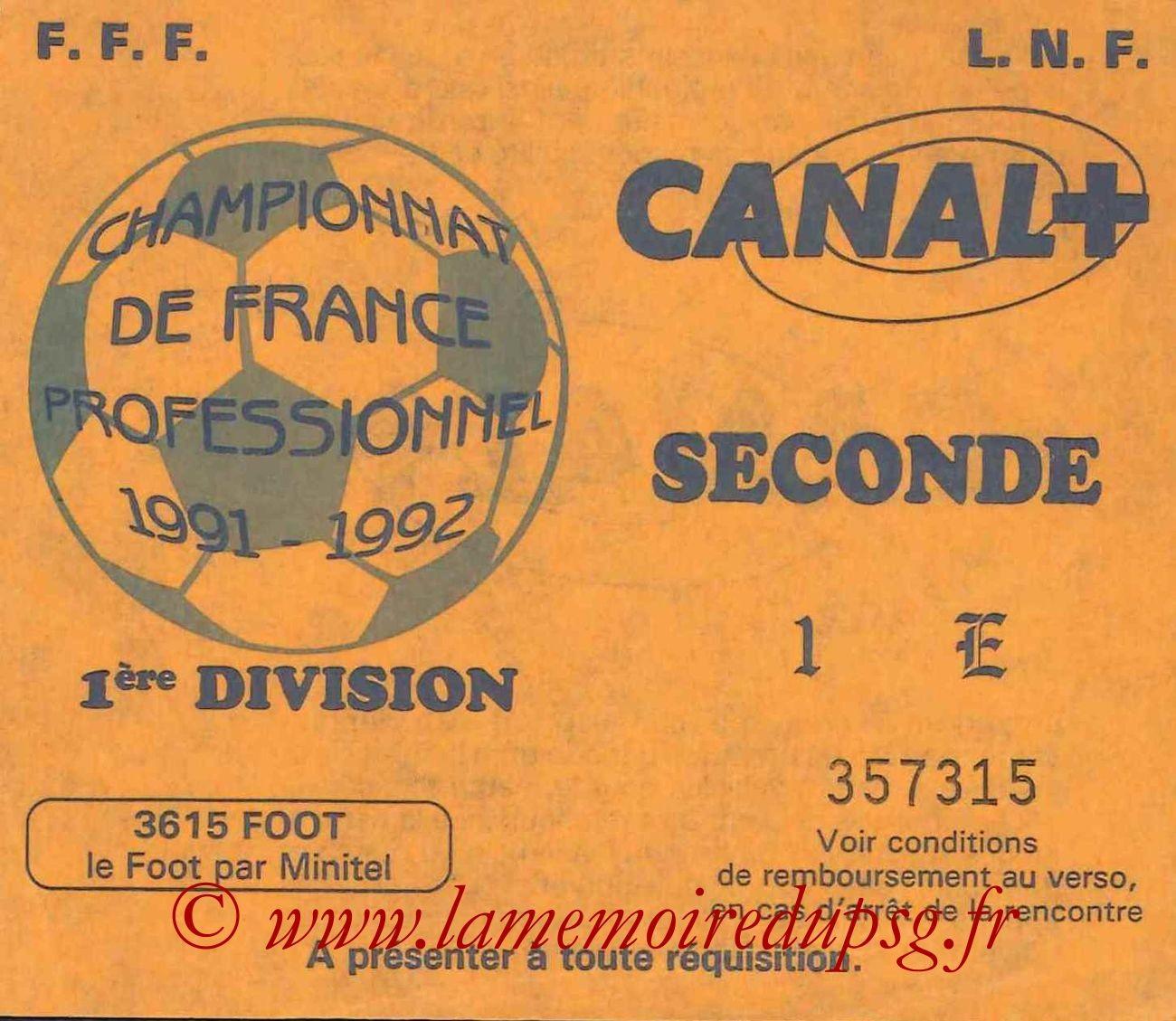 1991-11-15  Saint Etienne-PSG (18ème D1, Sans Nom)