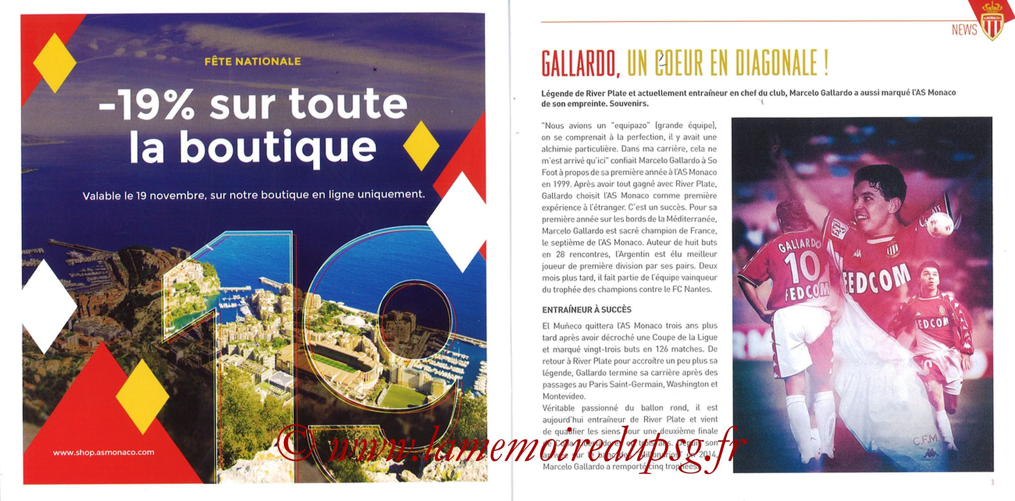 2018-11-11  Monaco-PSG (13ème L1, Programme officiel) - Pages 02 et 03