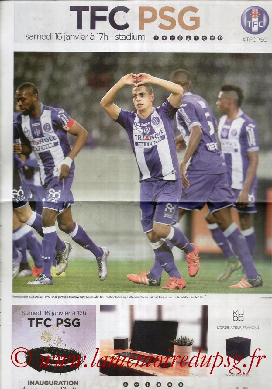 2016-01-16  Toulouse-PSG (21ème L1, Programme officiel)