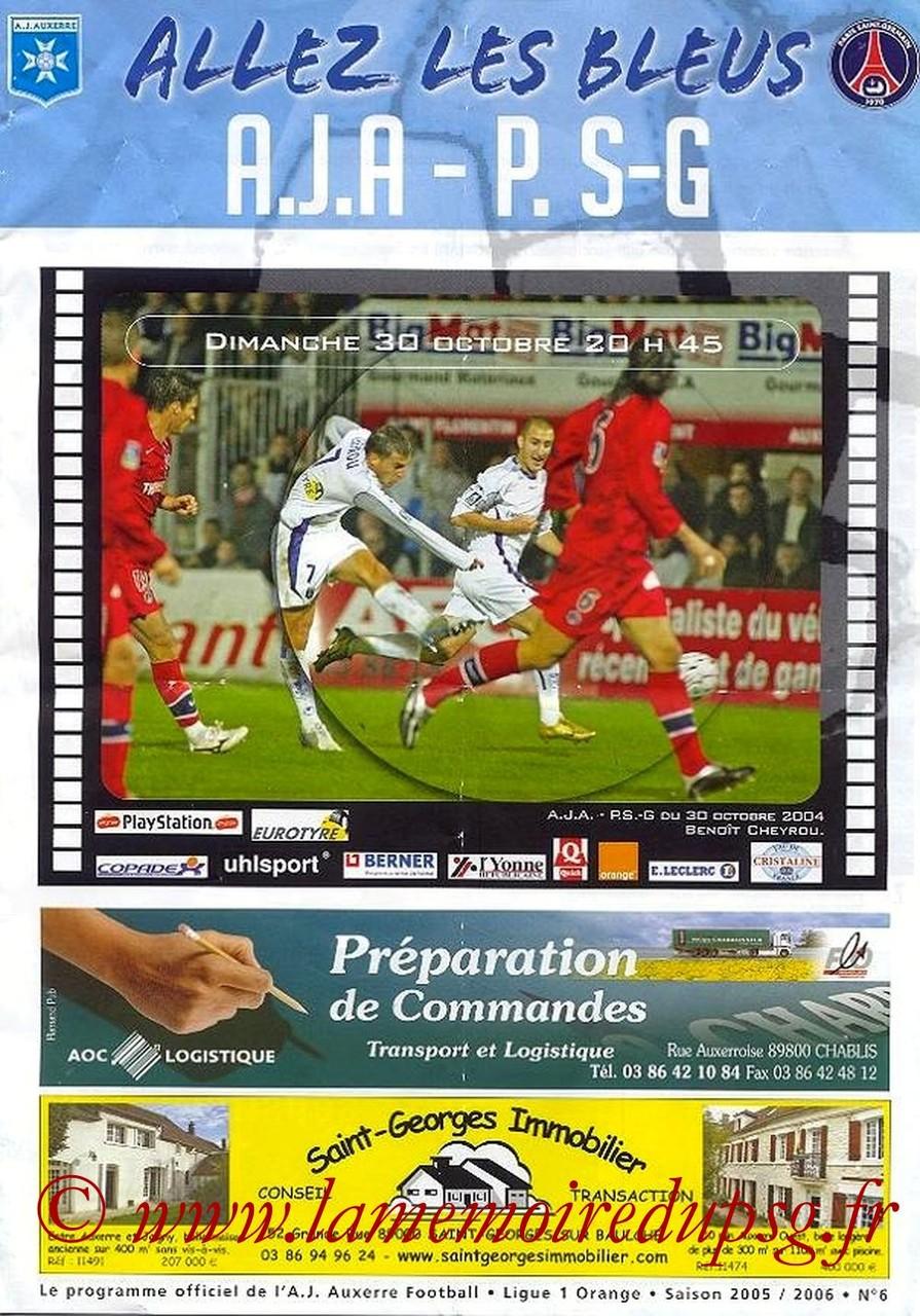2005-10-30  Auxerre-PSG (13ème L1, Allez les bleus N°6)