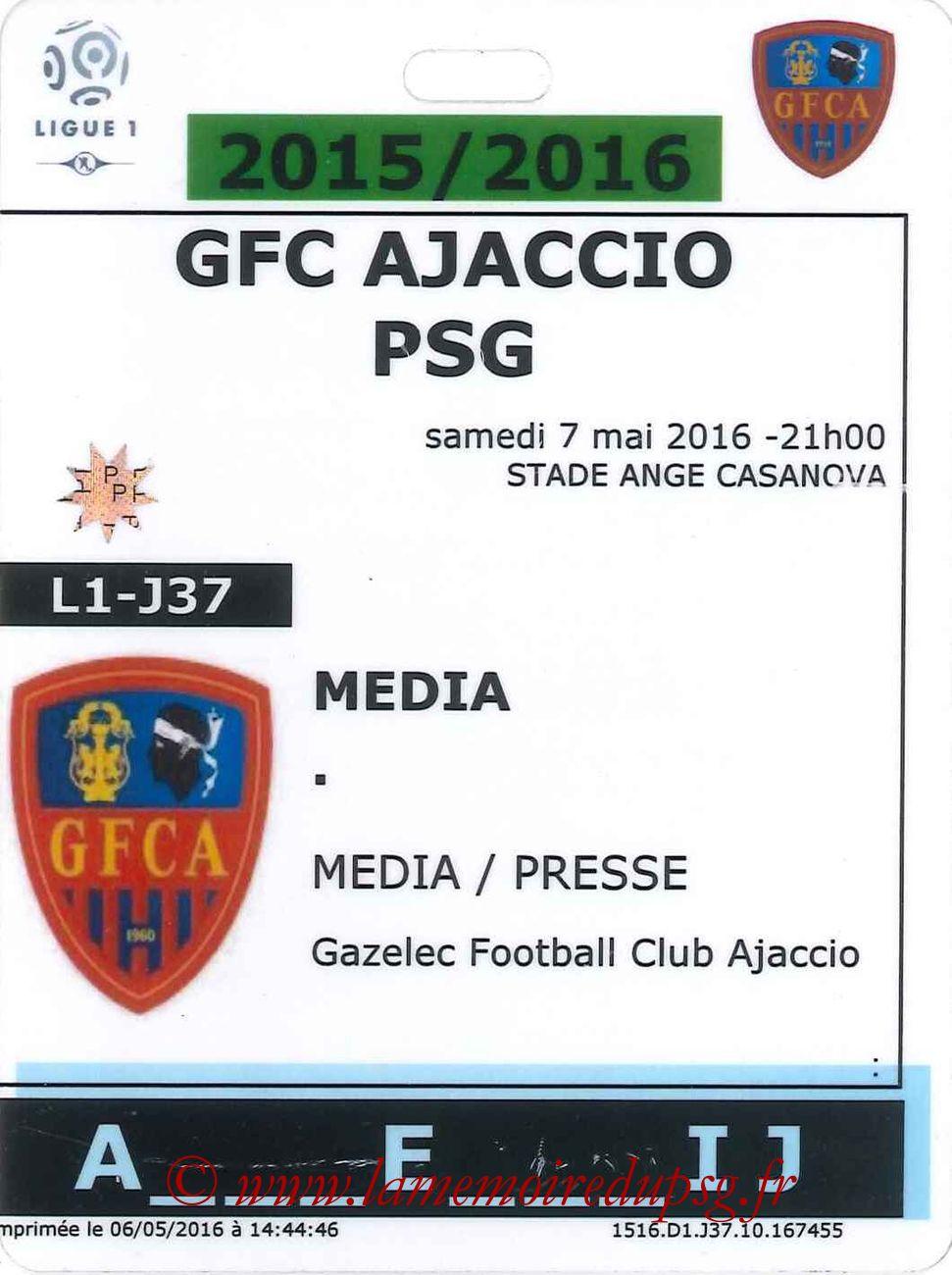 2016-05-07  Ajaccio-PSG (37ème L1, Presse)