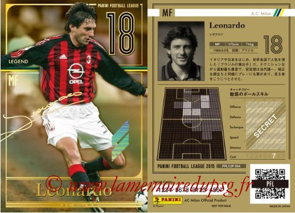 N° P004 - LEONARDO (1996-Aôut 97, PSG, 2015, Milan AC) (Legend)
