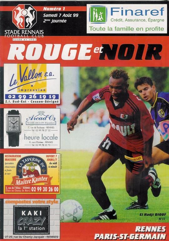 1999-08-07  Rennes-PSG (2ème D1, Rouge et Noir N°11)